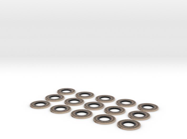 15 rings 3d printed