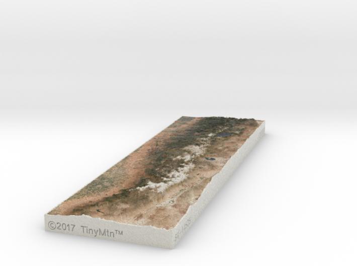 Sierra Nevada, CA/NV, USA, 1:2000000 3d printed
