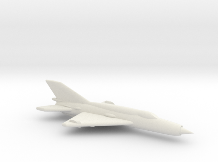 MiG-21M (Fishbed) Jet Fighter 3d printed