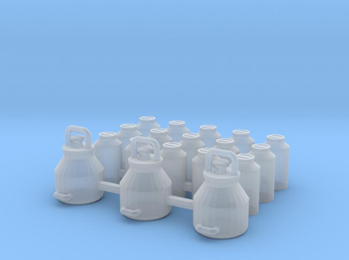1/87 H0 Melkeimer und Milchkannen 3d printed