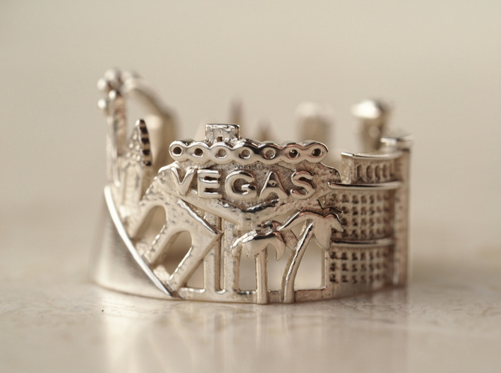 Las Vegas Ring - Gift for Best Friend 3d printed