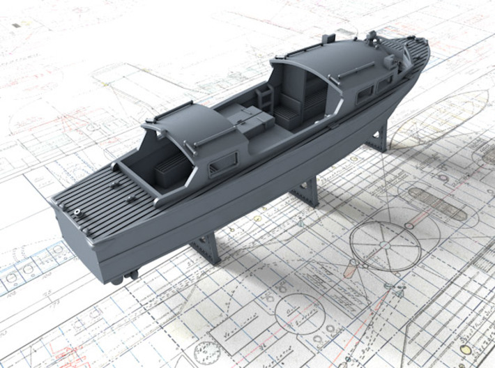 1/200 Royal Navy 35ft Fast Motor Boat 3d printed 3d render showing product detail