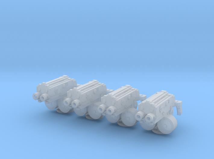 28mm combination gyroject guns for APC 3d printed