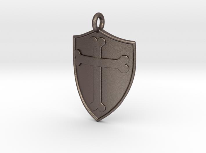 Medieval Shield Pet Tag / Pendant 3d printed