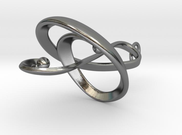 Treble Clef Pendant in Precious Metals 3d printed
