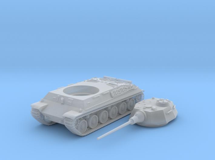 1/120 (TT) Czech Škoda T 40 Medium Tank 3d printed 3d render showing product detail