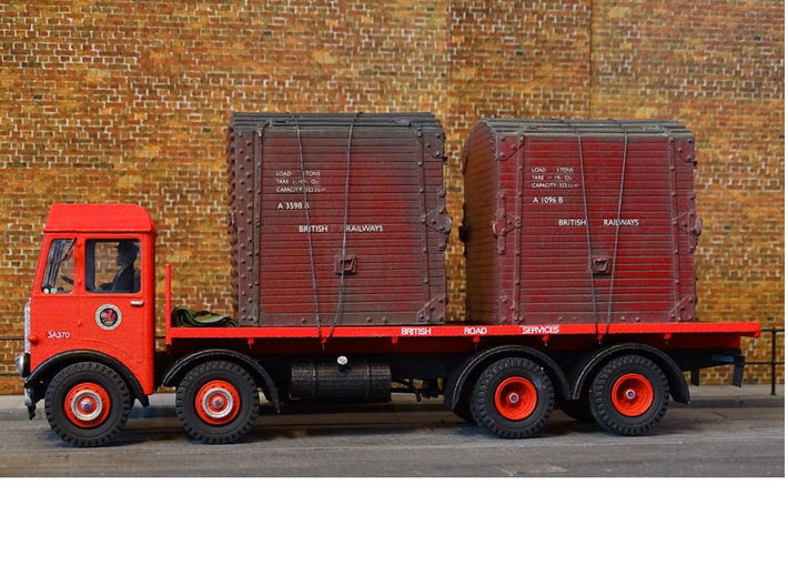 1:43 AEC Mammoth Major Mk1 Cab & 8Whl Chassis 3d printed Model fitted with Flatbed body, built & detailed by Julian Carr
