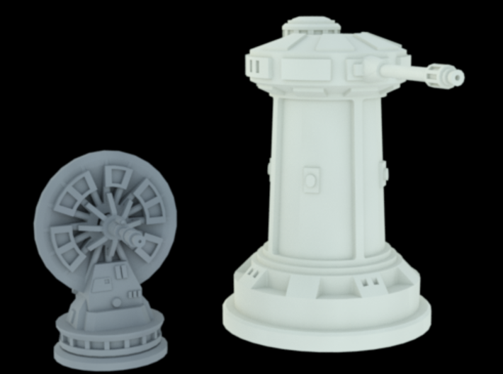 1/270 Rebel Anti-Vehicle Turrets (4) 3d printed DF9 & Anti-Vehicle Turret scaled. Pack includes 4 anti-vehicle turrets only!