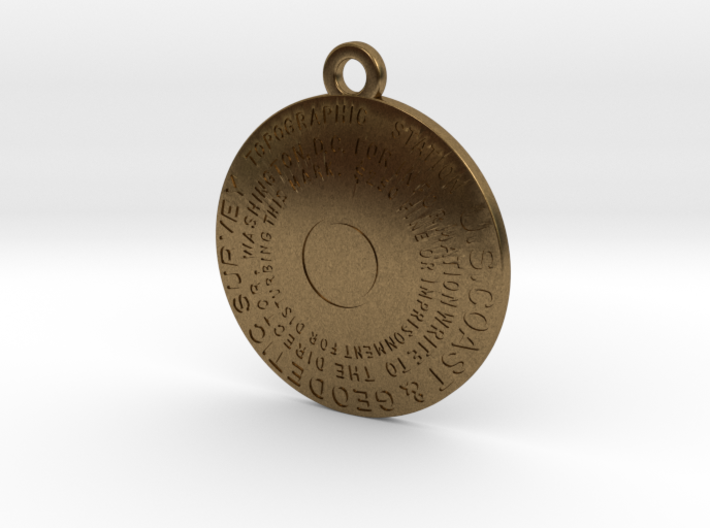 Topographic Station Keychain 3d printed