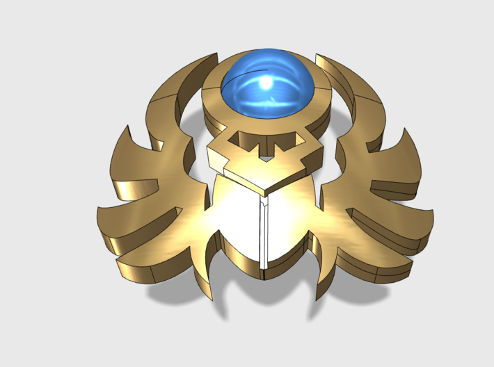 60x Sun Scarabs: Shoulder Insignia pack 3d printed