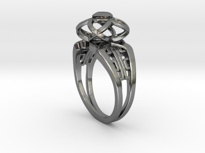 Korean Twin Ring (001) 3d printed Korean Twin Ring (001)