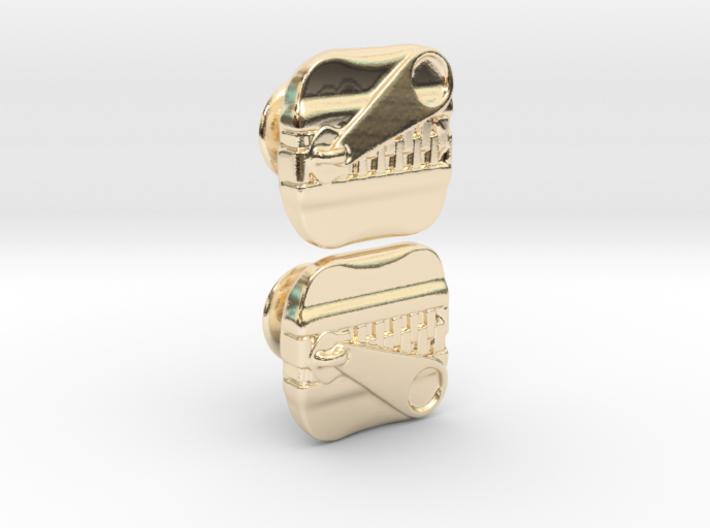 ZIPPER Cufflik 3d printed