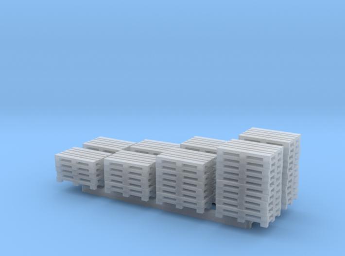 N Scale 8 Stacks of Pallets 3d printed