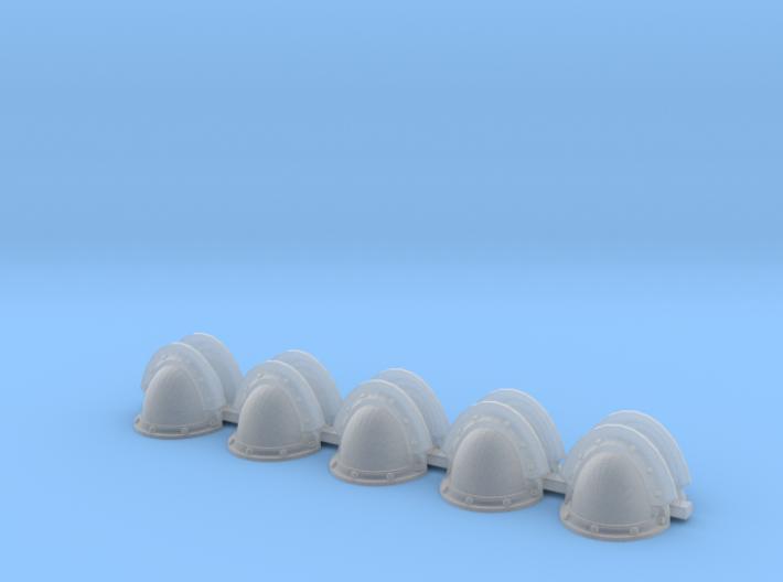 Blank MK3 Shoulders - Rebuilt 008a 3d printed