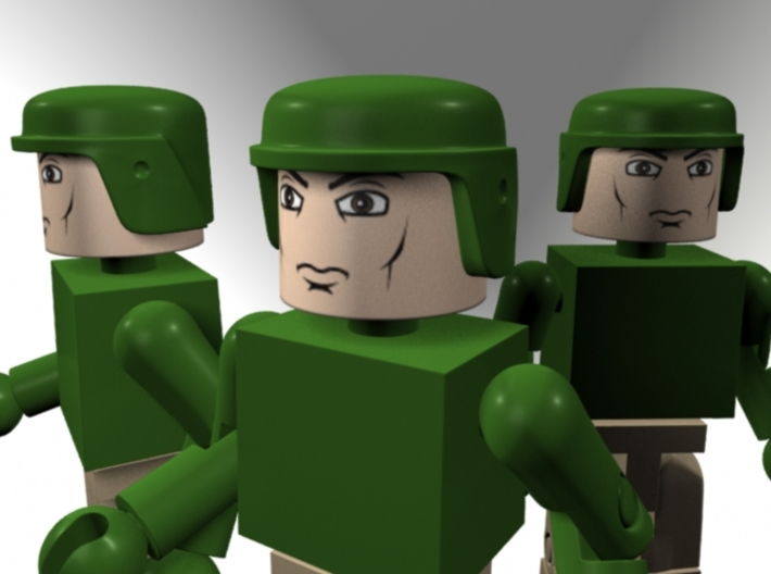 GI Joe Helmet For Minimates Set Of Three 3d printed
