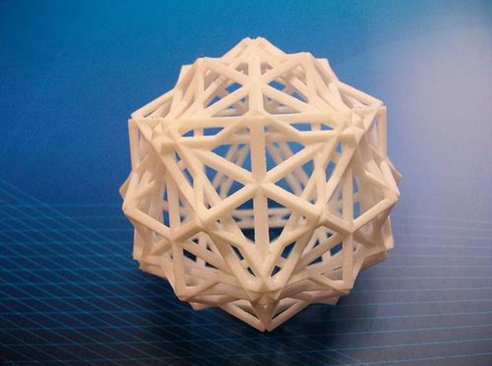 icosidodecahedron 3d printed Description