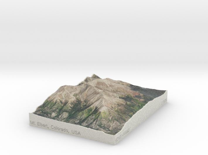Mt. Elbert, Colorado, USA, 1:75000 3d printed