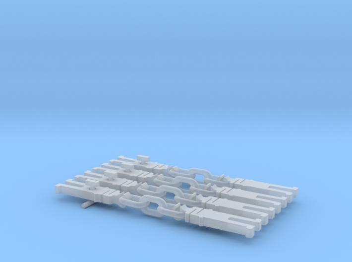 NEM OO Type 31 Couplings - Strait 3 Link x4 3d printed