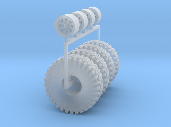 1/87 Wagon wheel and big off road tires 3d printed