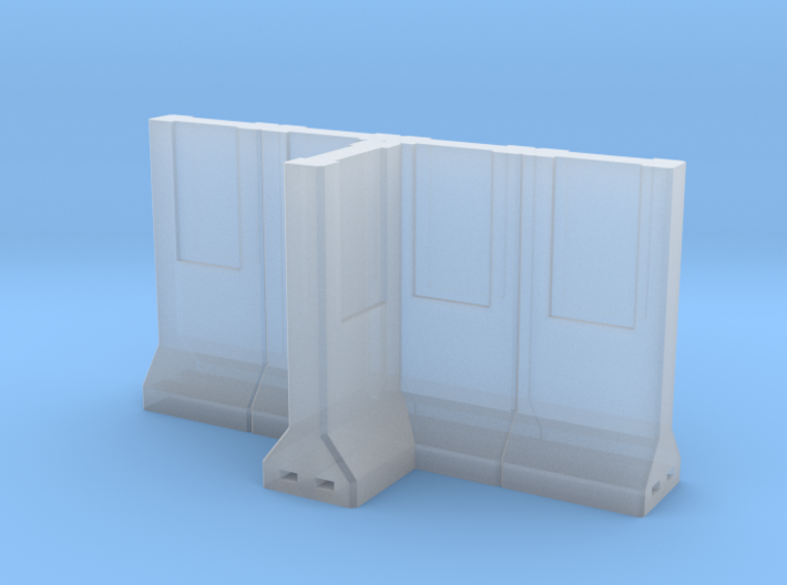 Concrete Retaining Wall - T Configuration 3d printed