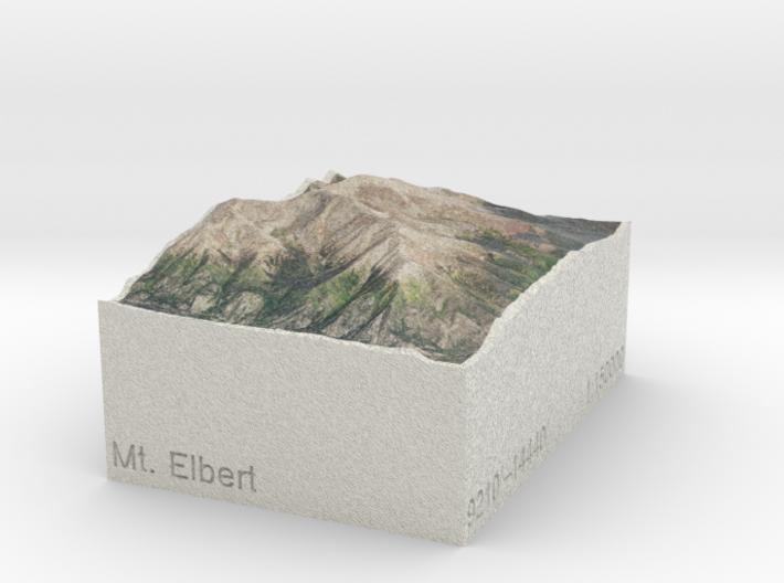 Mt. Elbert, Colorado, USA, 1:150000 Explorer 3d printed