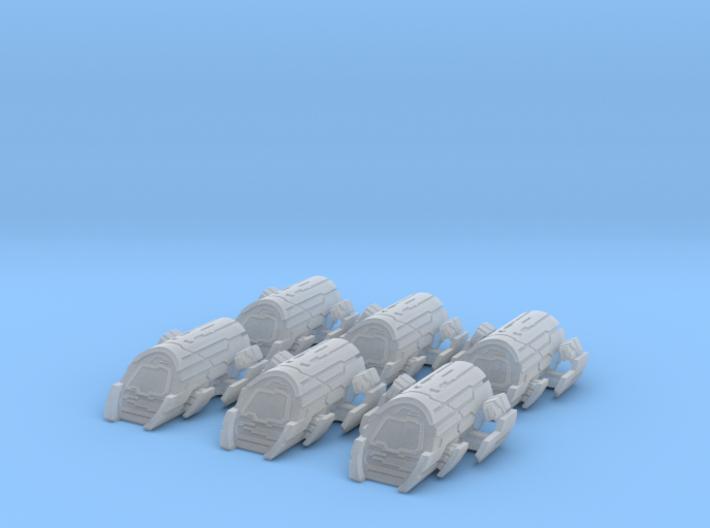 Puddle Jumper Large Set: 1/700 scale 3d printed