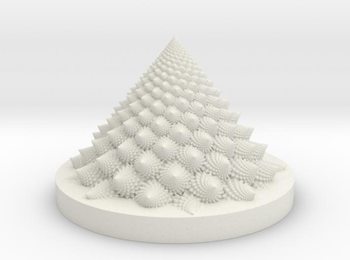 Romanesco fractal Bloom zoetrope 3d printed