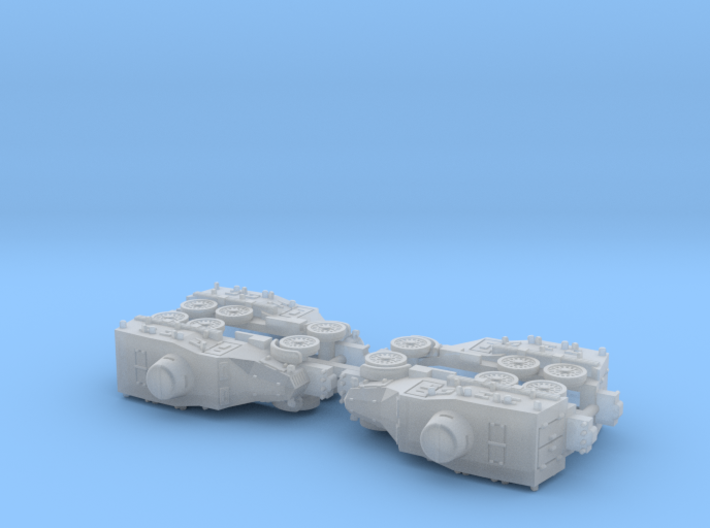 Type 91 Sumida Armoured Car (Roadwheels) 1/285 3d printed
