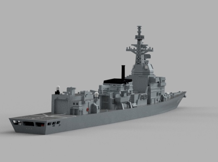 1/1250 Experimental Ship  JS Asuka 3d printed Computer software render.The actual model is not full color.