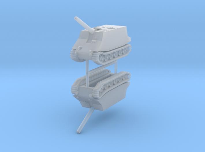 1/285 (6mm) Geschutzwagen Tiger 305mm (x2) 3d printed