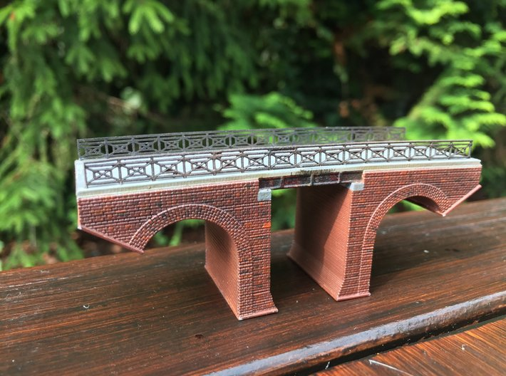 Polish Arched Railroad Bridge Z Scale 3d printed Painted by zdrada69 a railroad modeler