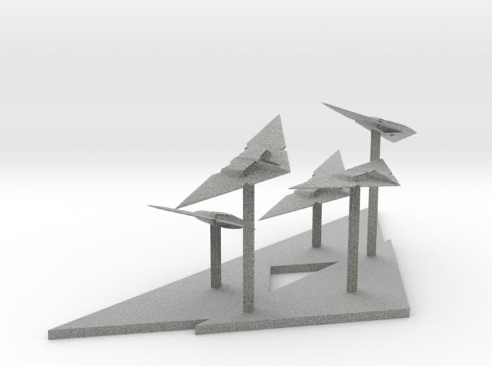 Raider Fighter Fleet (2.14 x / 5.164 y / 1.836 z) 3d printed