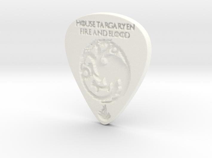 Game of Thrones House Targaryen Guitar Pick 3d printed