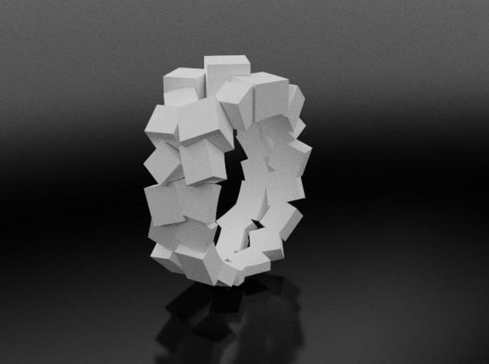 Prism Double Ring (from $15) 3d printed elegant and contemporary ring white nylon