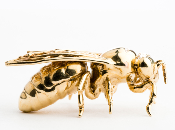 Beekeeper Chess Collection: Bishop 3d printed Polished Brass