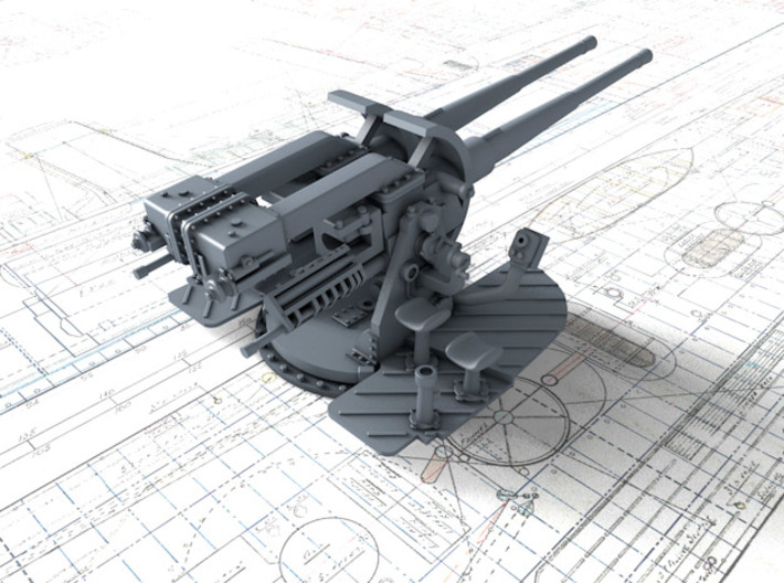 "1/144 Tribal Class 4.7"" MKXII CPXIX Gun Only 3d printed 3d render showing product detail"