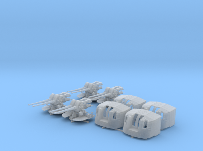 "1/144 Tribal Class 4.7"" MKXII CPXIX Twin Mounts x4 3d printed 1/144 4.7"" MKXII CPXIX Twin Mount x4"