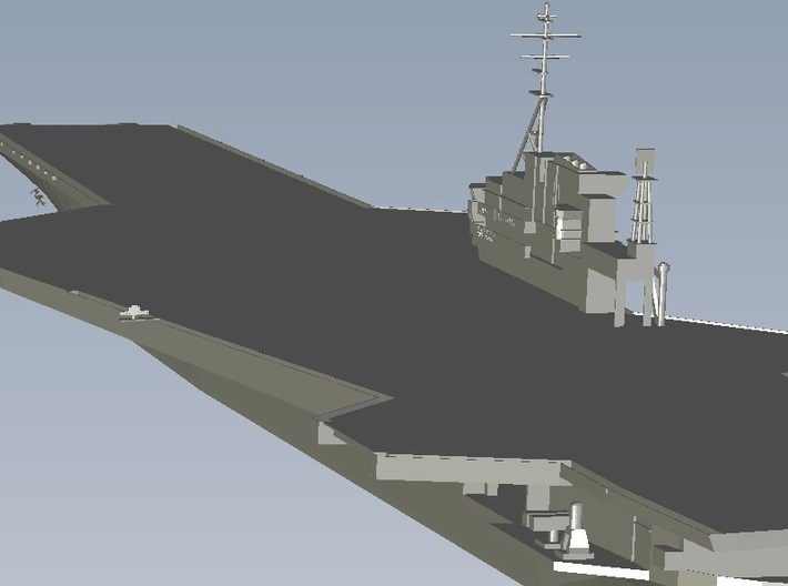 1/1800 scale USS Midway CV-41 aircraft carrier x 1 3d printed