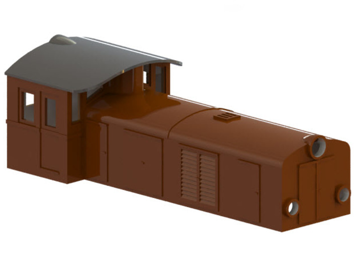 Swedish SJ electric locomotive type Ua - H0-scale 3d printed CAD-model