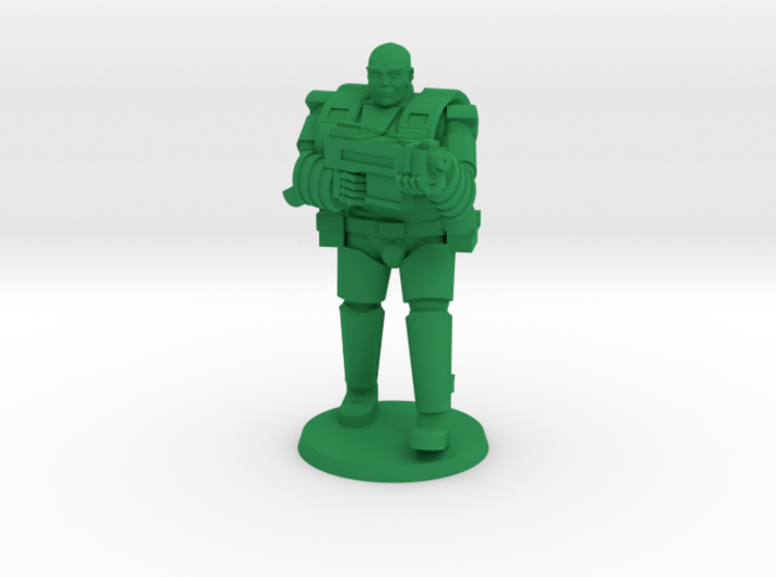 Super Soldier in Heavy Armor 3d printed