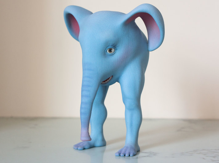 The Bipedal Elephant 3d printed The Bipedal Elephant is very self-conscious of his cankles.