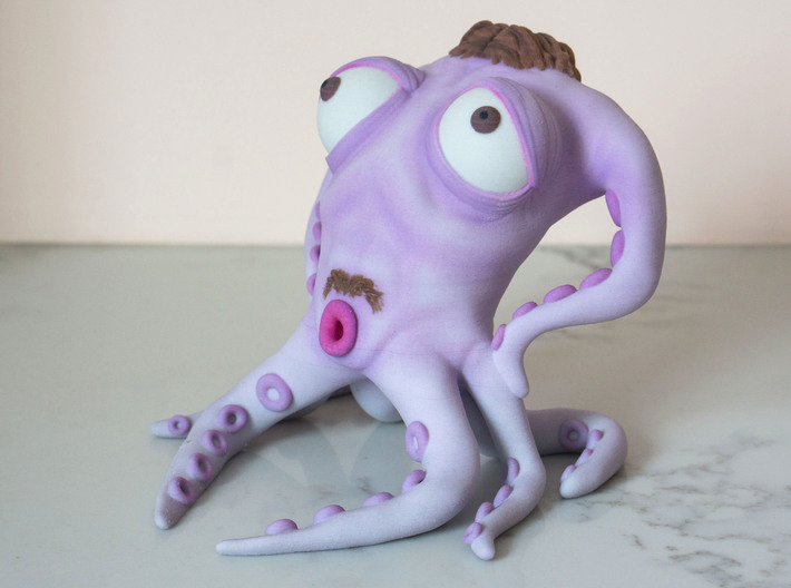 The Dapper Octopus 3d printed Sworn enemy of squids everywhere!