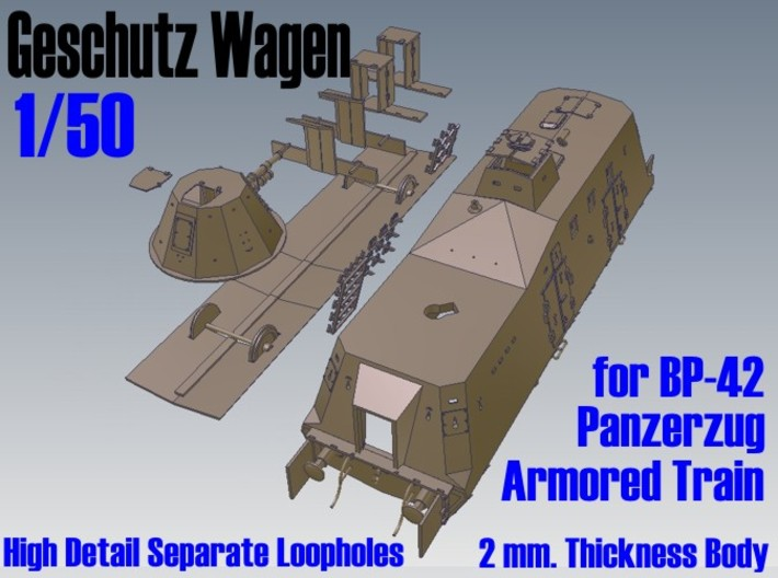 1-50 Sep-Parts G-Wagen For BP-42 3d printed