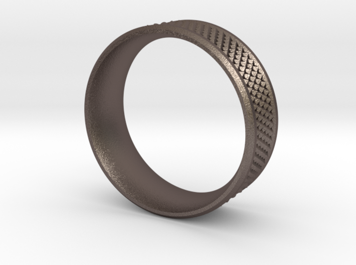 Men's Ring Textured sz 10.5 3d printed