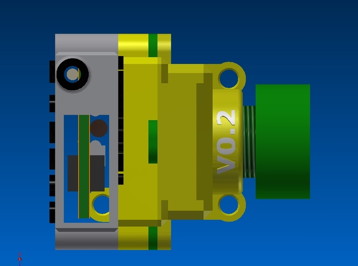 FPV Housing for Camera and Transmitter 3d printed assembled