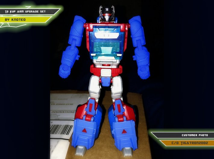 TR Kup Arm Upgrade Set A 3d printed Blue Strong Flexible Polished