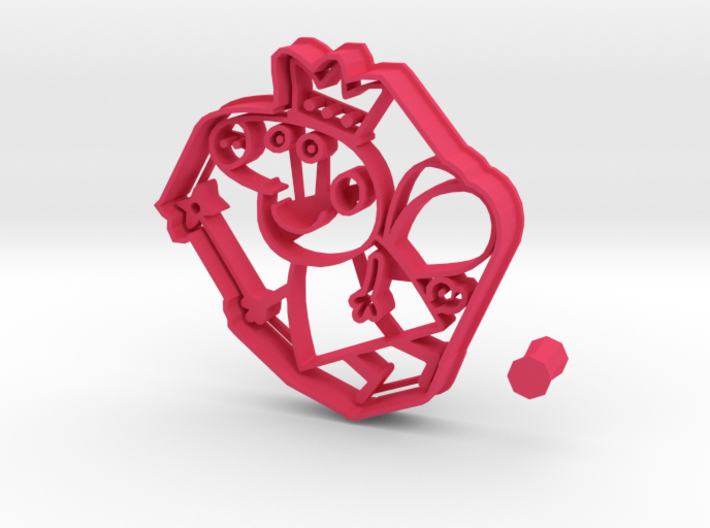 Cookie Cutter of Peppa Pig as a Fairy + handle 3d printed