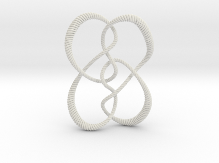 Symmetrical knot (Rope with detail) 3d printed