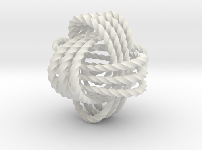 Monkey's fist knot (Twisted square) 3d printed
