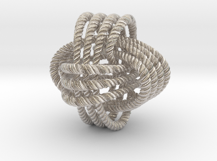 Monkey's fist knot (Rope with detail) 3d printed